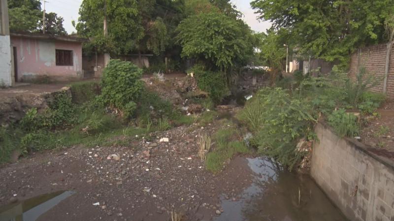 Piden limpieza de arroyo en la Antonio Toledo Corro