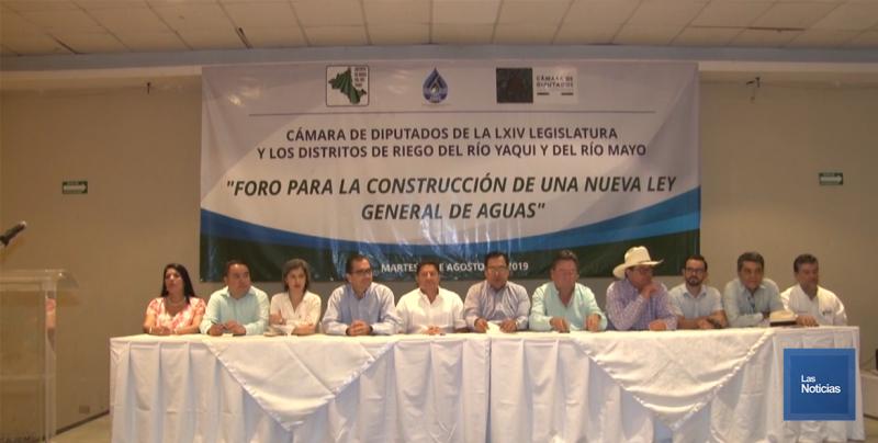 Realizaron en Obregón foro la construcción de una Ley de Aguas Nacionales