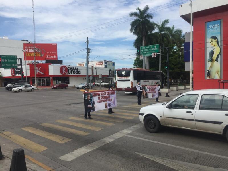 Inician programa de concientización vial en Culiacán