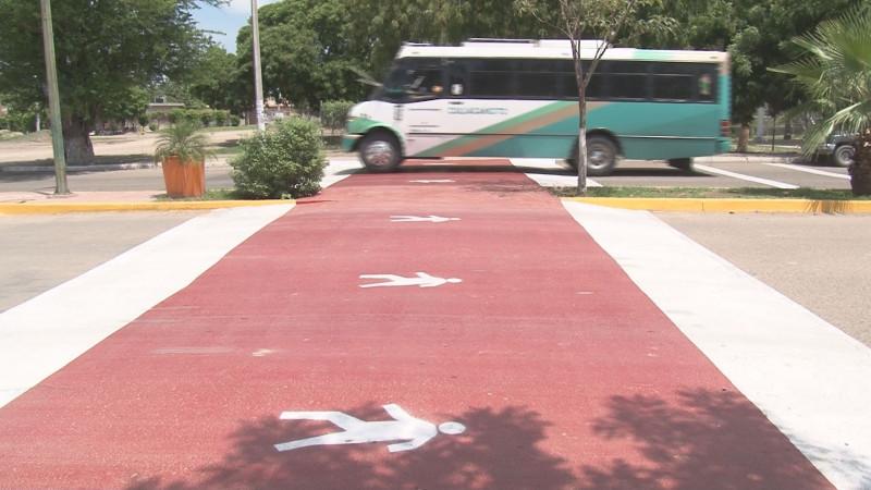 También en Culiacancito se construyó un paso peatonal en la calle principal