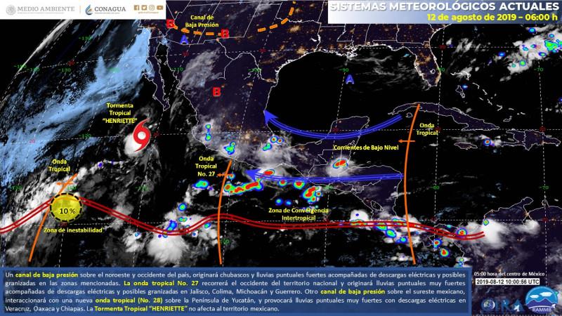 """Se forma Tormenta Tropical """"Henriette"""" en el pacífico: Meteorológico"""