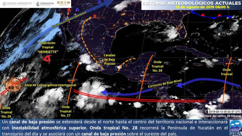 Fuertes lluvias para hoy en Sinaloa y ambiente caluroso: PC