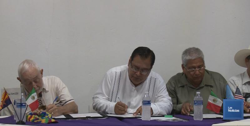 Firman convenio Alcaldes del Sur de Sonora con Organización de E. U.