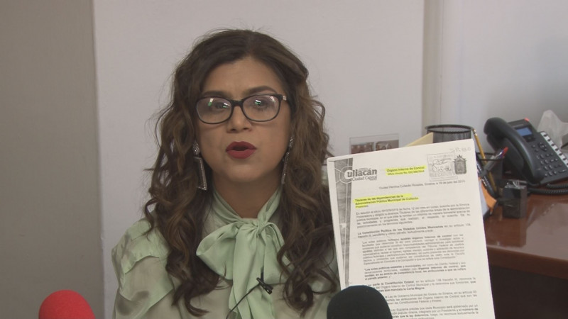 Pretende quitar atribuciones a la Síndico Procuradora en Culiacán