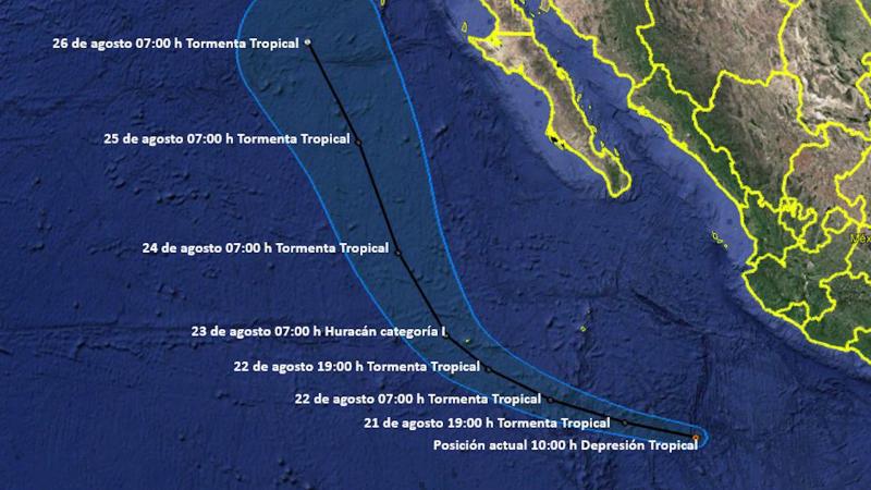 Se mantiene vigilada depresión tropical del Pacífico: Meteorológico