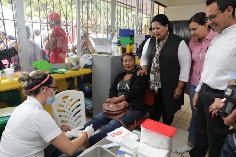 Entregan apoyos sociales en Potrerillos, Concordia