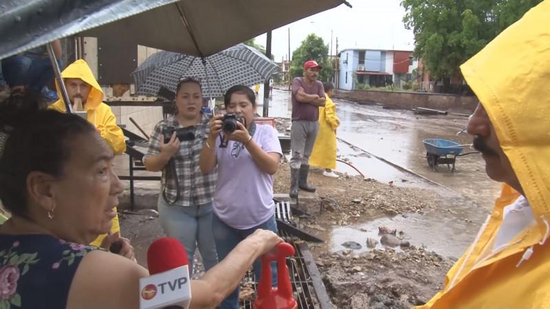Recorre alcalde Jesús Estrada zonas de inundaciones donde se realizan obras hidráulicas
