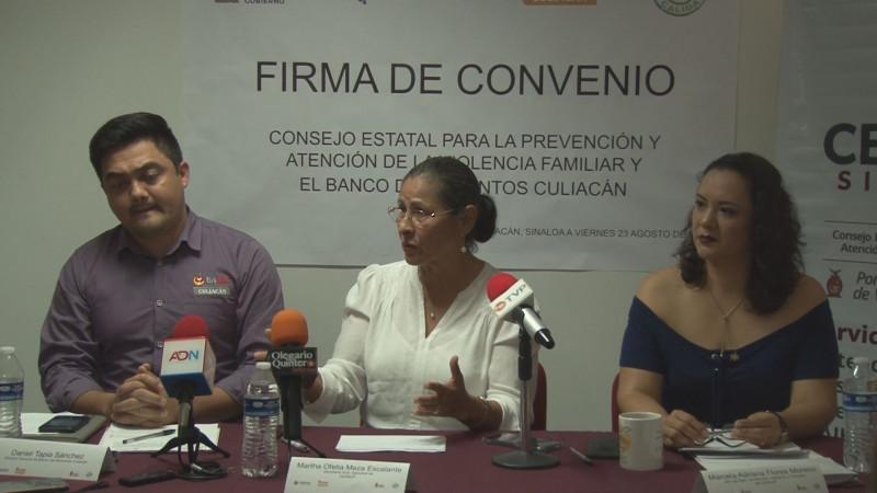 Firma convenio CEPAVIF-Banco de Alimentos Culiacán