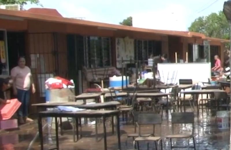 """Primaria """"Jaime Osuna Moreno"""" una de las más afectadas por lluvias"""