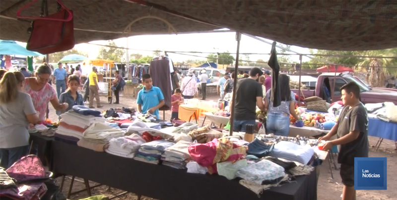 """Que consigan otro espacio, no el """"Piri Sagasta"""", afirma líder de tianguis a presidente de Expo Obregón"""
