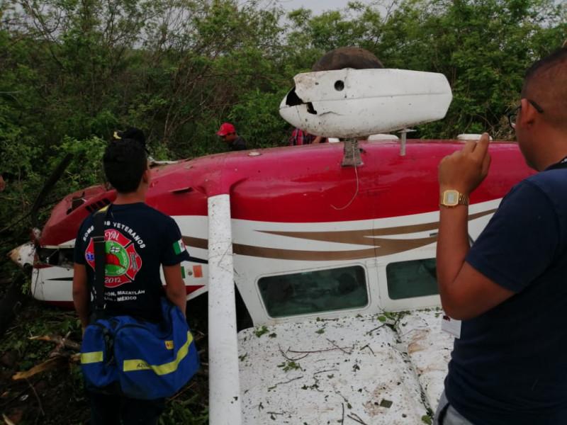 Cae avioneta en la Urraca, no se localizó a los tripulantes