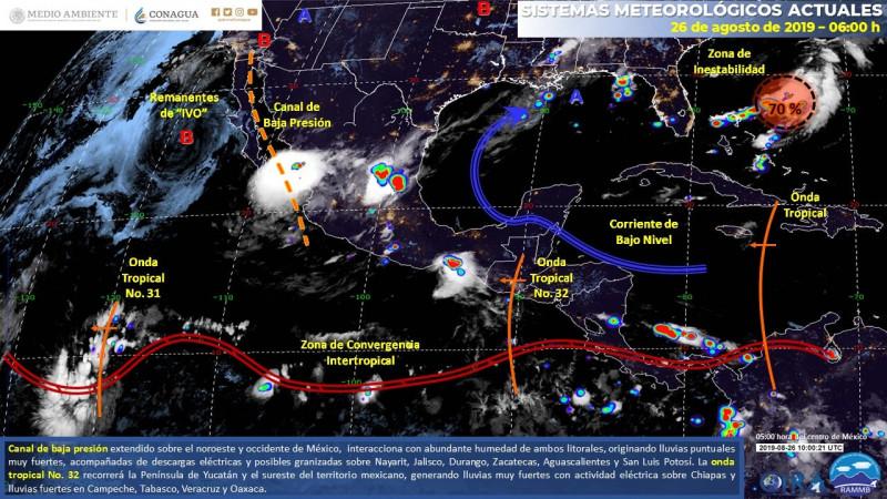 Se pronostican lluvias fuertes en la región: Meteorológico