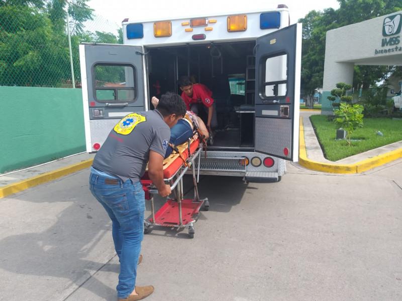 Derrapa moticiclista en boulevard de Villa Unión