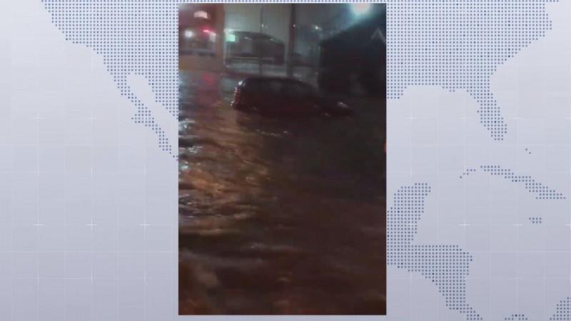 Protección Civil reportó caída de árboles , postes y autos en canales además de inundaciones en El Diez