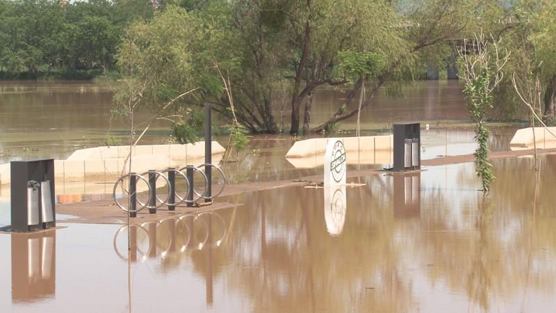 Apenas informaban sobre limpieza del Parque Acuático cuando se inunda de nueva cuenta
