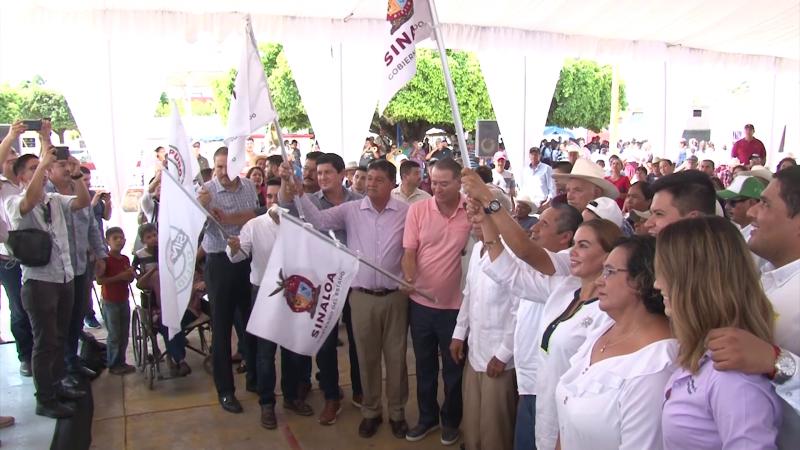 Se da el banderazo de millonaria obra en Agua Verde, Rosario