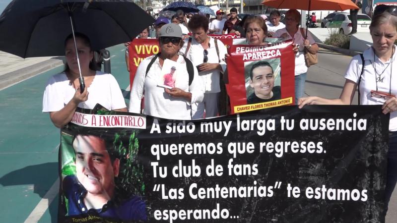 Claman por encontrar a sus hijos desaparecidos en Mazatlán