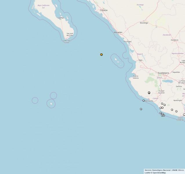 Temblor de 4.3 grados se registró en Mazatlán