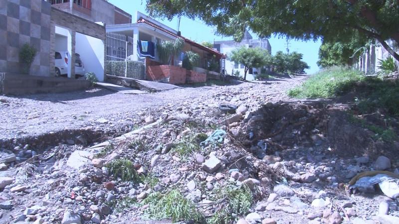 Calle Herminio Pérez en pésimas condiciones