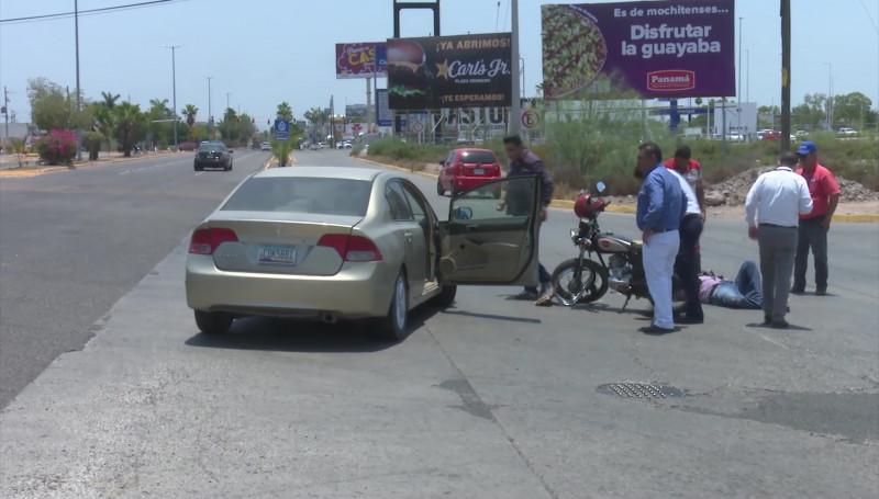 Alarman los accidentes en motocicleta en la ciudad: Bomberos Veteranos