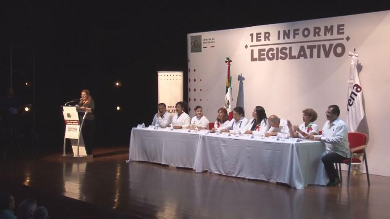 Presentan Diputados federales de MORENA Primer Informe de Actividades Legislativas