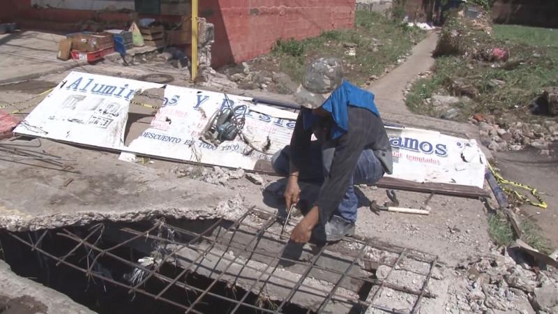 Sin afanes protagónicos se realizó la reparación de la alcantarilla donde se registró la tragedia de Alejandra