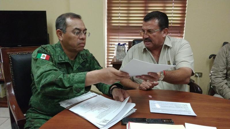 Navolato formaliza donación de terreno para base de la Guardia Nacional