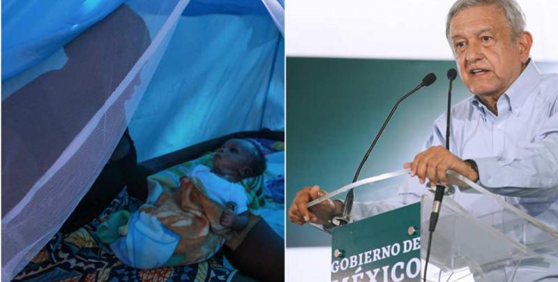 Migrante africana nombra a su hijo Andrés Manuel López Obrador