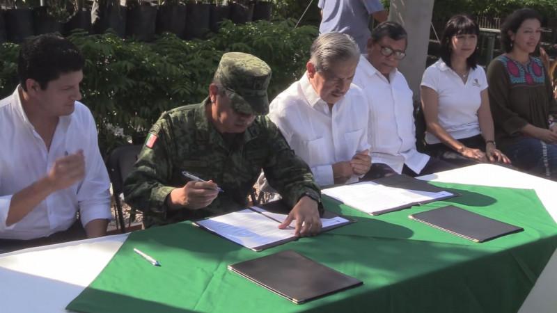 Firman convenio Gobierno de Sinaloa y SEDENA