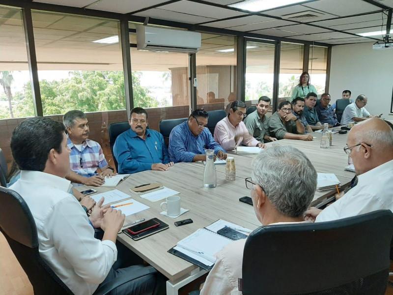 Instalan mesa de trabajo para la regulación de los drenes Bacurimí, Cedritos y Caimanero