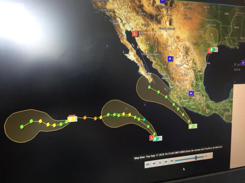 Dos tormentas tropicales y un huracán en el pacífico: Meteorológico