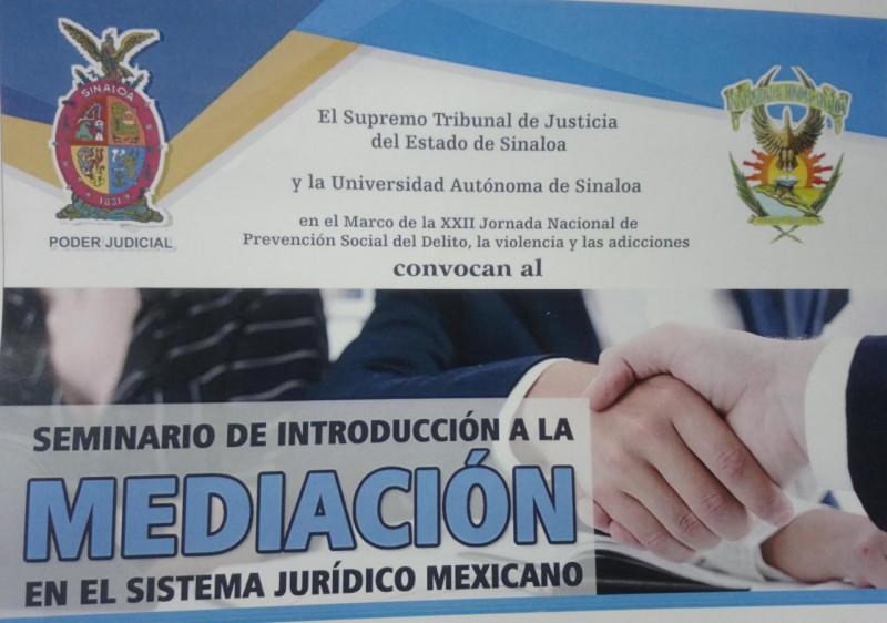 Invitan a Seminario de Introducción a la Mediación en el Sistema Jurídico Mexicano