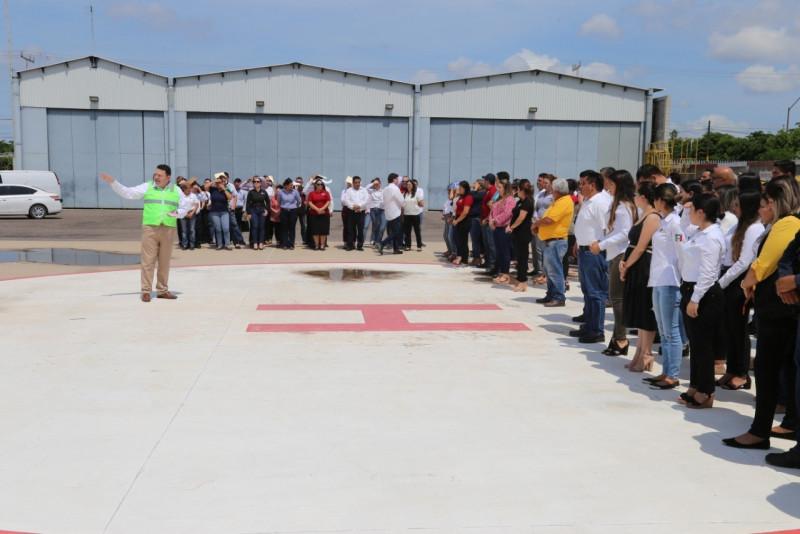 SSP Sinaloa  realiza simulacro de sismo