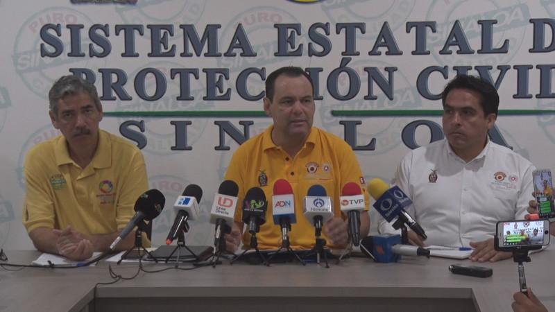 """Protección Civil Sinaloa mantiene vigilancia por """"Lorena"""""""