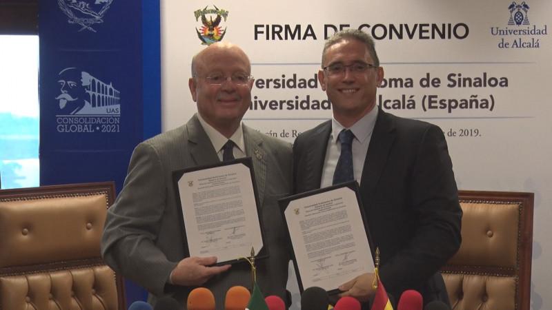 Firma la UAS convenio con la Universidad de Alcalá