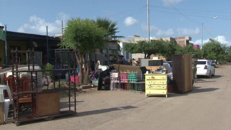 Desalojo masivo de familias en fraccionamiento San Fernando