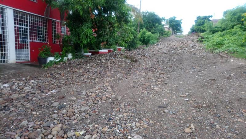 Intransitable la calle Constitución Luis G. Monzón