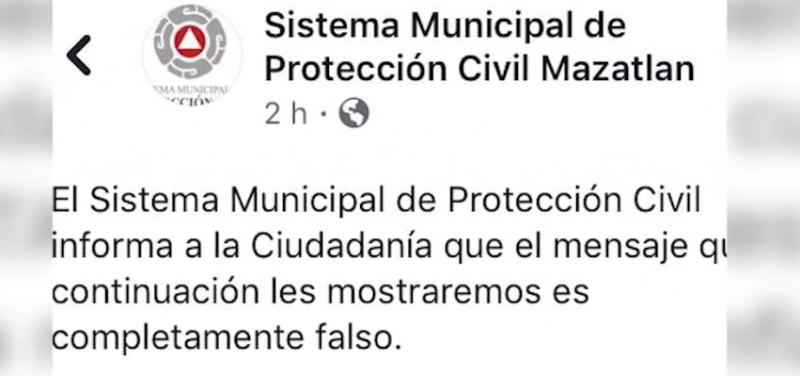 Desmiente Protección Civil supuesto mensaje de robos y asaltos