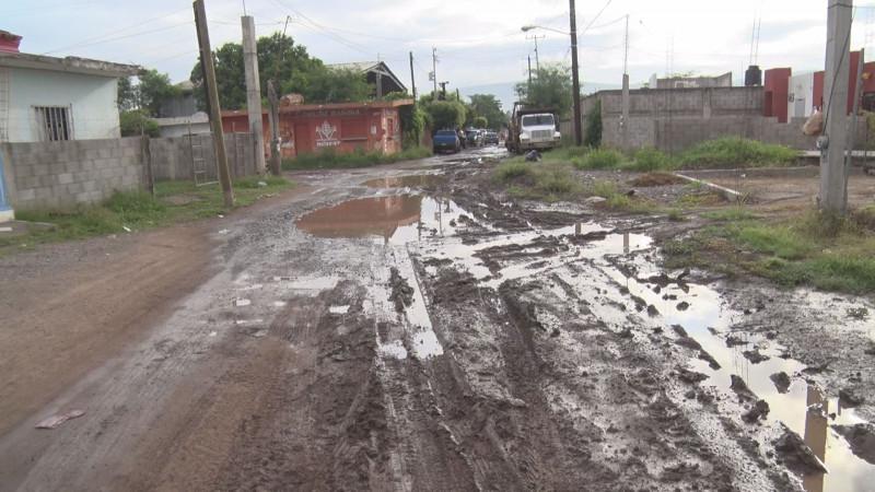 En mal estado y sin alumbrado público la calle Mina de la Purísima