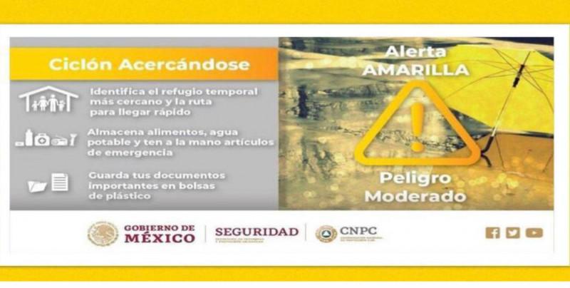"Mazatlán en ""alerta amarilla, peligro moderado"""