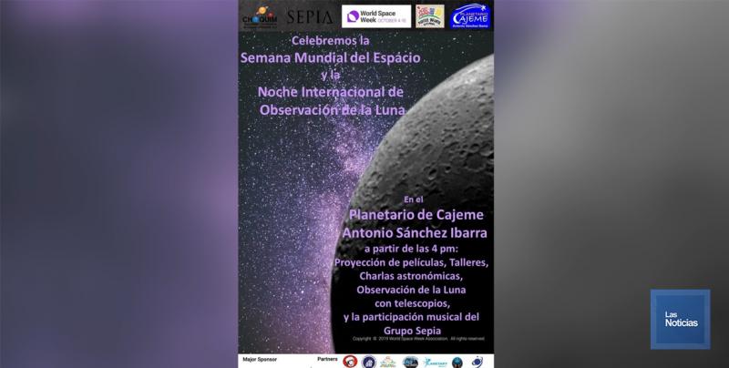 A disfrutar de los eventos de la Noche Internacional de la Observación de la Luna