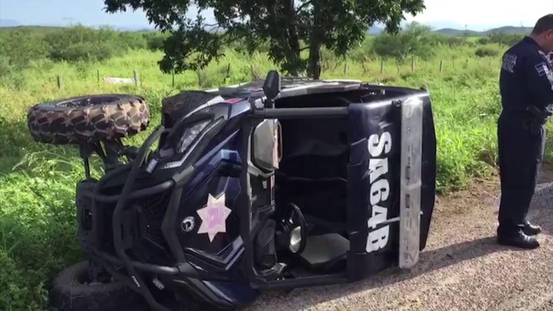Accidente en carretera deja como saldo a dos policías lesionados