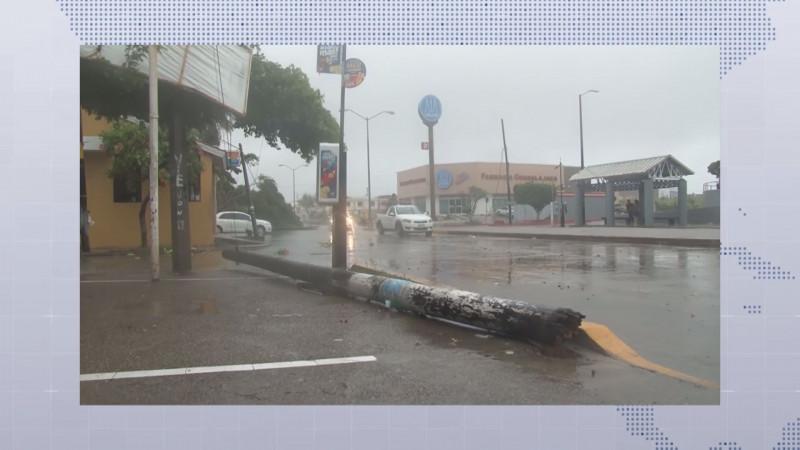 LLuvias de hasta 90 milímetros y rachas de viento de 90 kilómetros por hora generó Narda en Sinaloa