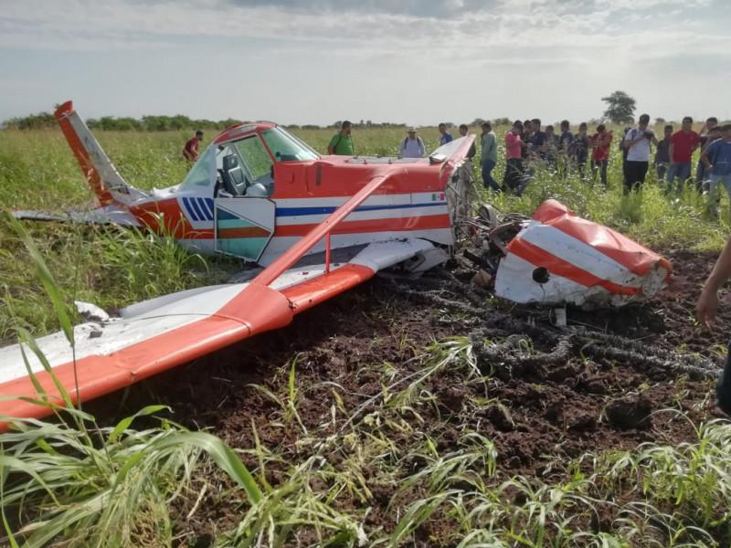 Se desploma avioneta en terreno de la Facultad de Agronomía