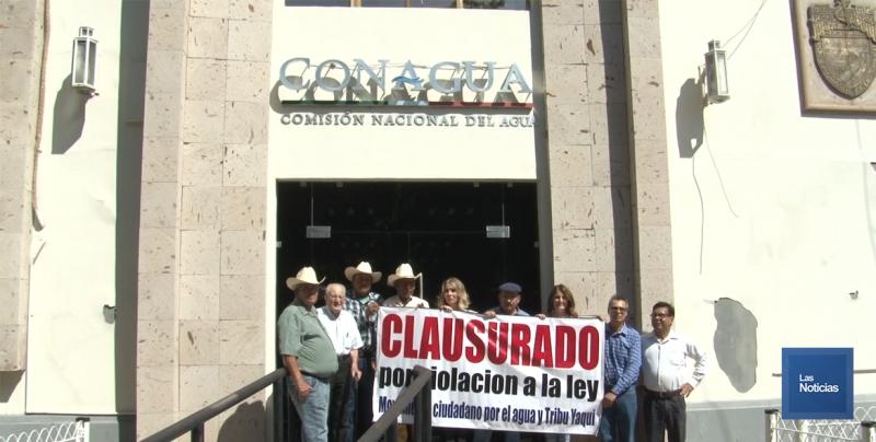 Clausuraron oficinas de CONAGUA en Ciudad Obregón