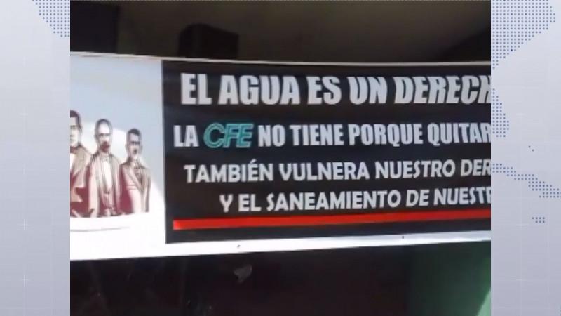 Toman ciudadanos de Escuinapa las instalaciones de la CFE por cortar energía a pozos de agua potable