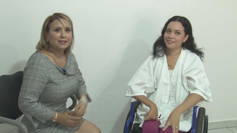 Leslie va por el triunfo en Certamen de Mujeres con Discapacidad Motriz