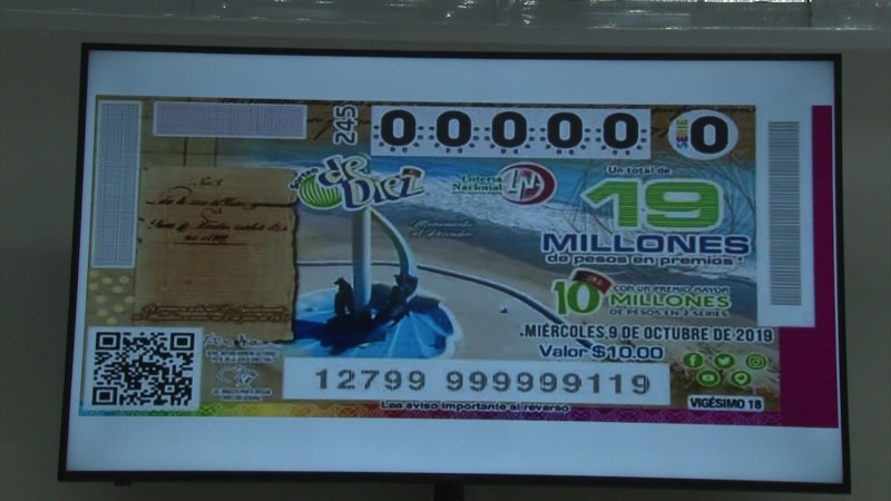 Mazatlán, la nueva imagen de los cachitos de Lotería Nacional