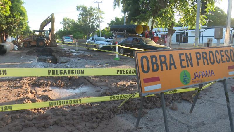 Repara Japama drenaje del Fracc. Deportiva