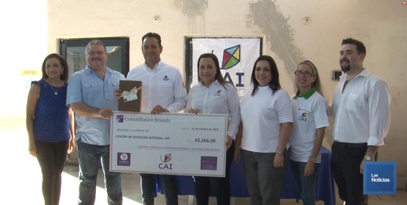 El CAI de la Villa Bonita, recibió donativo de Constellation Brands